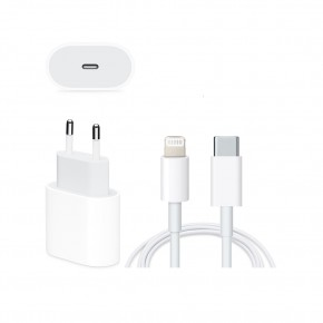 CARGADOR 18W TIPO C + CABLE LIGHTNING A TIPO C PARA IPHONE